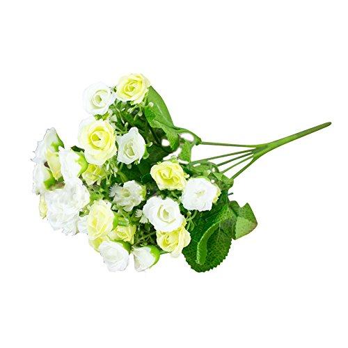 WuWxiuzhzhuo Heißer 1 Bouquet Künstliche Gefälschte Rose Blume Pflanze Home Office Party Decor Foto Requisiten White (Blume Office-pflanze)