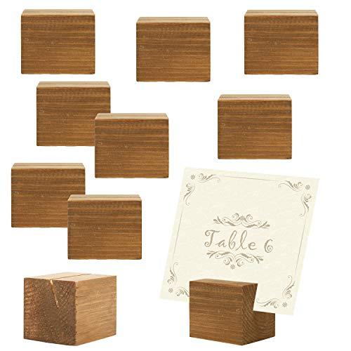 natur Holz, rechteckiger Tisch Platz Kartenhalter, Sonstige, beige, S ()