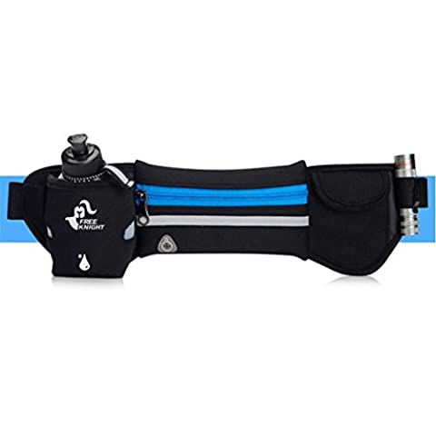 BZLine ® Unisex Travel Running Cycling Fitness Waist Pocket Sports Pack Belt Kettle Bag Phone Pouch (Blue)