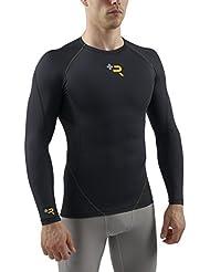 Sub Sports Men'Elite Plus R Erholung s Compression Long Sleeve Base Layer schwarz schwarz