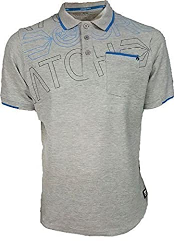 Crosshatch Mens Faithless Polo Shirt Top Grey - Size Small