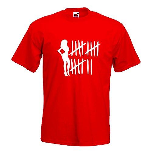 Kiwistar Bitch Strichliste - Tussi - Schlampe T-Shirt in 15 Verschiedenen Farben - Herren Funshirt Bedruckt Design Sprüche Spruch Motive Oberteil Baumwolle Print Größe S M L XL XXL Rot