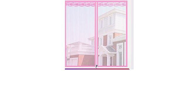 SODKK Moustiquaire pour Fen/être Magn/étique Rideau Fermeture Automatique Facile /à Installer sans Percer Ruban adh/ésif Magique Laisse Entrer lair Frais Gris 70x180cm