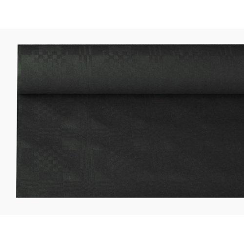 Tischdecke schwarz, Damastprägung 8x1,2m