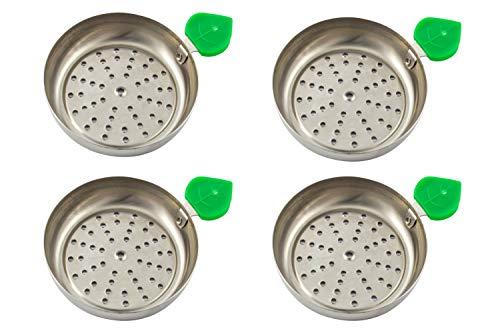 Plato para carbón manzana de cachimba shisha hookah - Muy cómodo y fácil de utilizar Cuatro