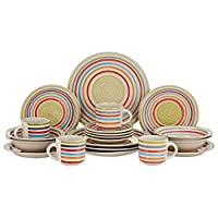 Harmony Stoneware Dinner Set - 20 Pieces,Multi Color