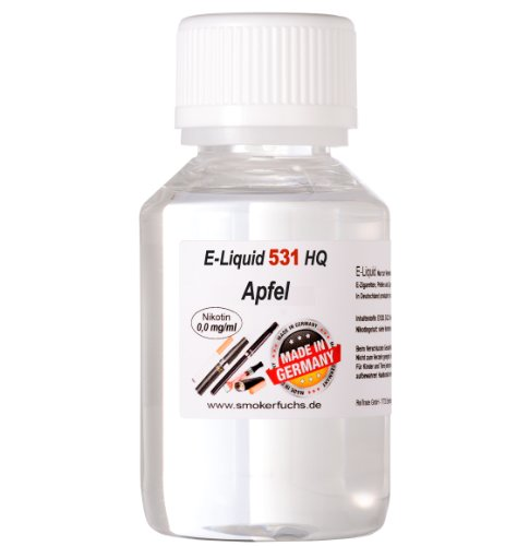 100ml E-Liquid No. 531 High Quality Apfel 0,0 mg Nikotin