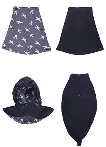 Mija - 3in1 Tragejacke, Umstandsjacke Tragepullover für Tragetuch für Babytrage 4046 Jeans