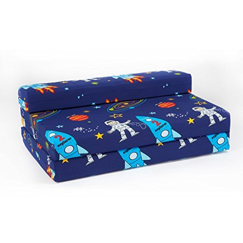 childrens-space-boy-double-fold-out-foam-z-bed-sleepover-guest-mattress-sofa
