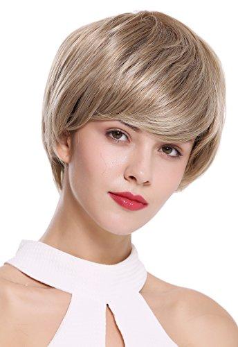 WIG ME UP - IRIS-12BT22 Damenperücke Perücke kurz voll Volumen glatt Braun Blond gesträhnt (Kurze Iris)