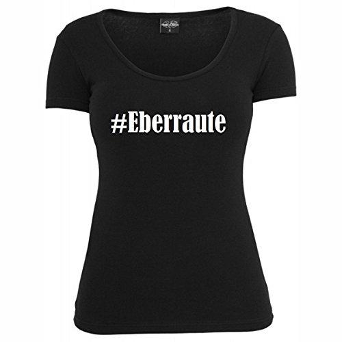 T-Shirt #Eberraute Hashtag Raute für Damen Herren und Kinder ... in den Farben Schwarz und Weiss Schwarz
