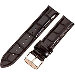 Daniel Wellington York Rose Men's Brown Leather Buckle Watch Strap with Pin of 20cm 0311DW