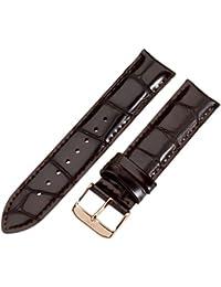 Daniel Wellington - 0311DW - York - Bracelet de Montre Homme - Cuir Noir