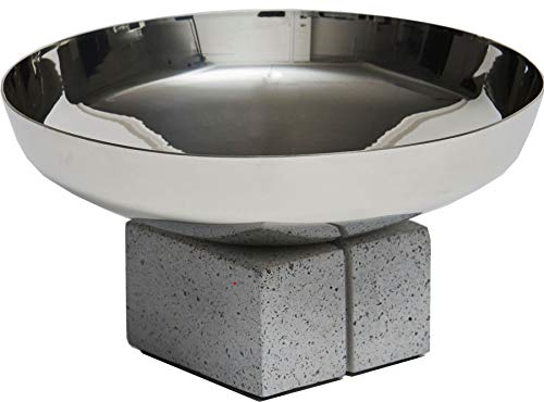 Large Wide Pewter And Concrete Bowl in Topian Design Ideal for Engraving