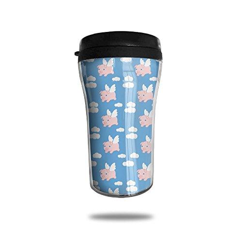 Flying Pigs aislado al vacío taza de café de acero inoxidable, 8.5-oz