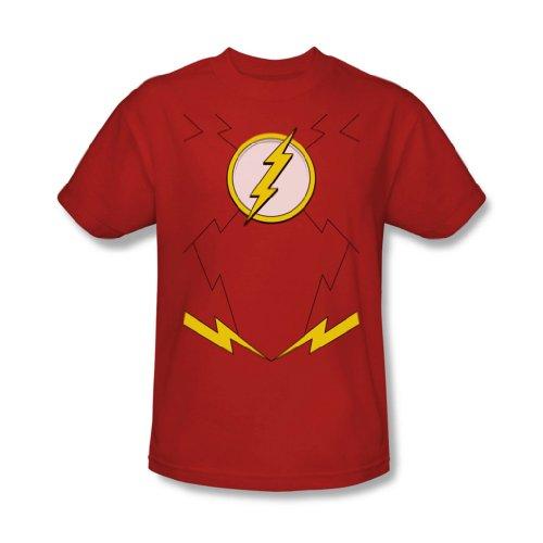 - Männer Neue Flash-Kostüm-T-Shirt In Red, Large, Red (Neue Flash Kostüm)