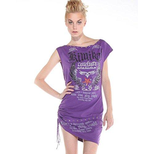 Kimikal - Dress Mini Purple Stoned Dress Donna Purple L