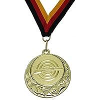 JoGo Medaille Ø70mm Luftgewehr goldfarben mit Band