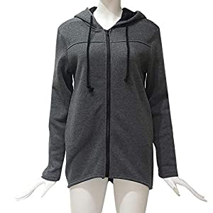 Festiday Blouses For Women Plus Size Clearance Sale 2018 New Casual Women's Fashion Hoodies & Sweatshirts Fashion Women Zipper Long Sleeve Sweatshirt Coat Outwear Hooded Jacket Overcoat