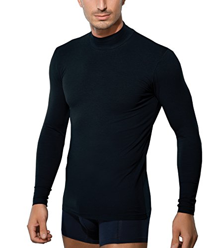 Doreanse Langarm Shirt Halbkragen Herren T-Shirt Slim Fit Sportshirt Mens  Muscle Fit Longsleeve Shirt 5a10fab31