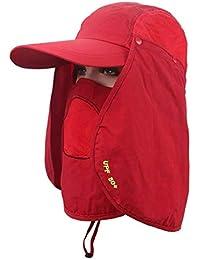 Hombres Hombres Gorra De Verano con Protección Ultravioleta Gorra Tamaños  Cómodos De Deporte Al Aire Libre Transpirable Sombrero… e7c05ea5cb1