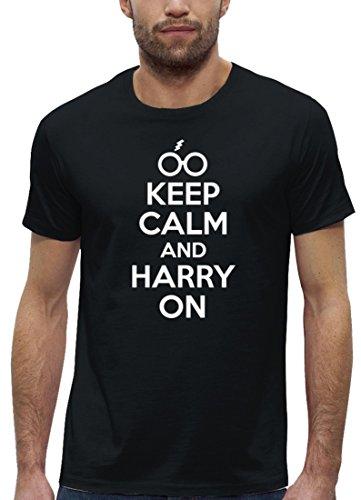 Kult Film Premium Herren T-Shirt aus Bio Baumwolle Keep Calm And Harry On Stanley Stella Black