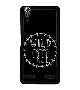 Wild And Free 2D Hard Polycarbonate Designer Back Case Cover for Lenovo A6000 Plus :: Lenovo A6000+ :: Lenovo A6000