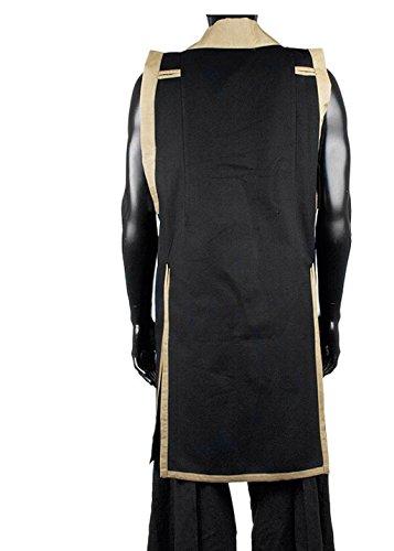 üstung Jin-Baori Feldlager-Überzieher Samurai Umhang Schwarz/Gold oder Dunkelrot/Gold (M/L, Schwarz/Gold) (Samurai-rüstung Halloween-kostüm)