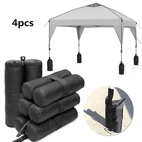 TJW 4 Stück Pavillons Sandgewichte Sandsäcke Zeltbeingewichte Tasche für Verankerung von Pavillons, Zelten, Sonnenschirmen, Trampoline und Kinder-Gartenspielzeug
