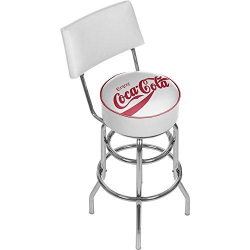 (Trademark Enjoy Coke Weiß Hocker mit Rückseite)