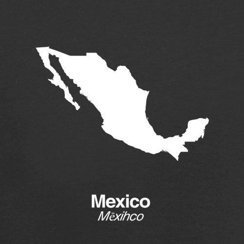 Mexico / Mexiko Silhouette - Damen T-Shirt - 14 Farben Schwarz