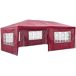 TecTake Carpa pabellón Tiendas de para Eventos y Fiestas Jardin 3x6 m (Rojo | No. 402305)