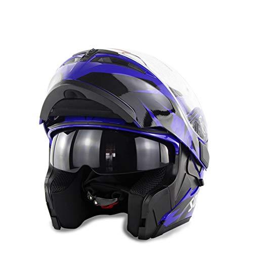 Flip Up Anti Fog Motocross Helme Abs Doppel Objektiv Erwachsene Mountain Road Motorrad Helm Jahreszeiten Universal Outdoor Modular Racing Helm (Aegis Helm)