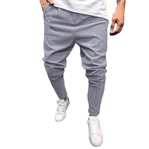 QUICKLYLY Pantalones Vaqueros Hombre Pitillo Rotos