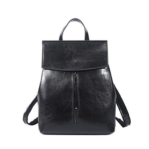MATAGA ,  Damen Daypack schwarz schwarz (Patent Brown Bag Tote)