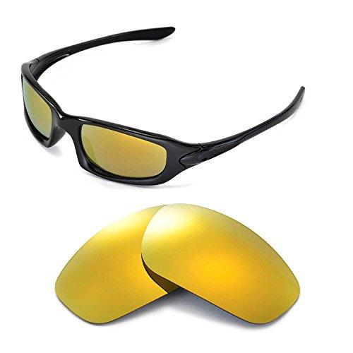 Walleva Ersatzgläser für Oakley Fives 4.0 Sonnenbrille - Mehrfache Optionen (24K Gold Mirror Coated - Polarisiert)