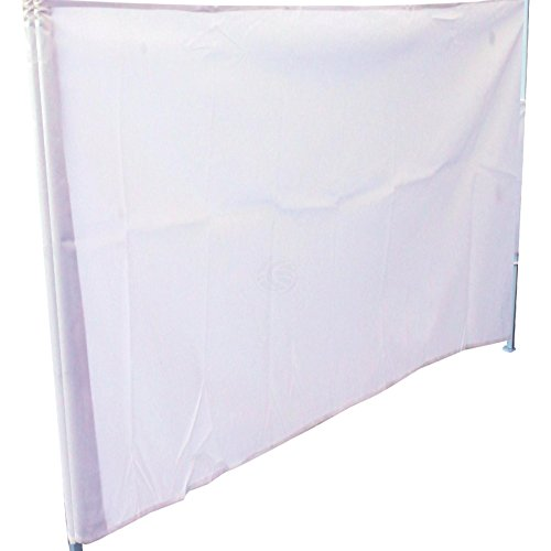 Cablematic - Lona lateral completa para carpa plegable de 300cm blanca