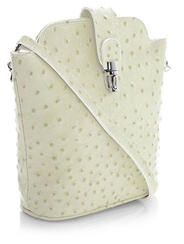 Big Handbag Shop , Borsa Messenger  donna Avorio (crema)