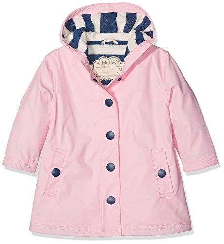 Hatley Girls Splash Rain Jacket, Pink (Classic Pink/Navy), 2 Years