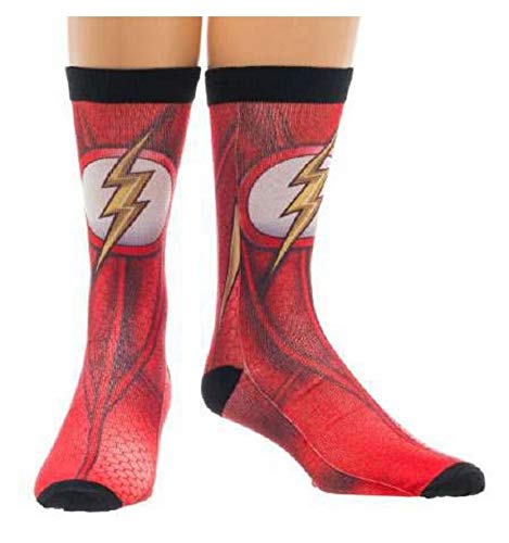 Crew Socke-DC Comics-Flash Charakter Sublimated New Lizenzprodukt cr2e7edco