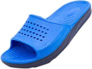 Remanlly Couple Outdoor And Indoor Slip-On Slippers Fashion Flat Non-Slip Slide Sandal Shower Bath Home Bathro