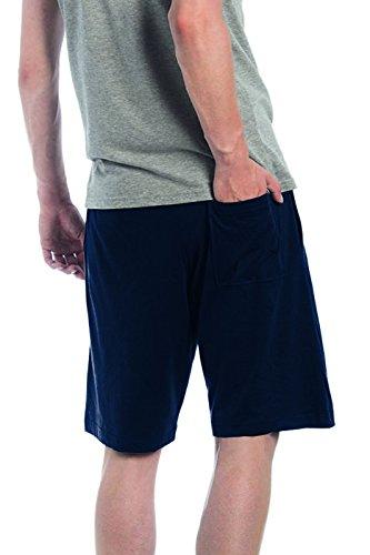 Pantaloncino Corto Sportivo Uomo Pantaloncini Corti Cotone B&C Short Bermuda Blu notte