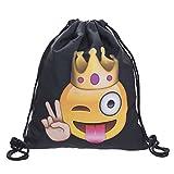 Sacchetto Turn King Emoticon Emoji Smiley Sacchetto Hips terbag Gymsack Festival