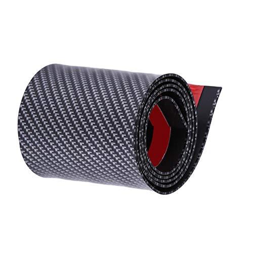 KIMISS Adesivi per auto, protezioni per paraspigoli per porte in gomma in fibra di carbonio, universali per la maggior parte delle automobili/camion/SUV(10X100 CM)