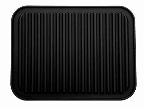dessous de plat en silicone imperméables, résistants à la chaleur et antidérapants - 23 x 30 cm - Noir - Lot de 1