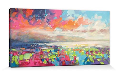 1art1 116157 Scott Naismith - Resonant Colour Poster Leinwandbild Auf Keilrahmen 100 x 50 cm
