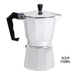 Hjuns Italian Espresso Coffee Maker Stove 1/3/6/9/12 Cup Stovetop Espresso Maker Top Moka Macchinetta Latte Coffee Pot Stove