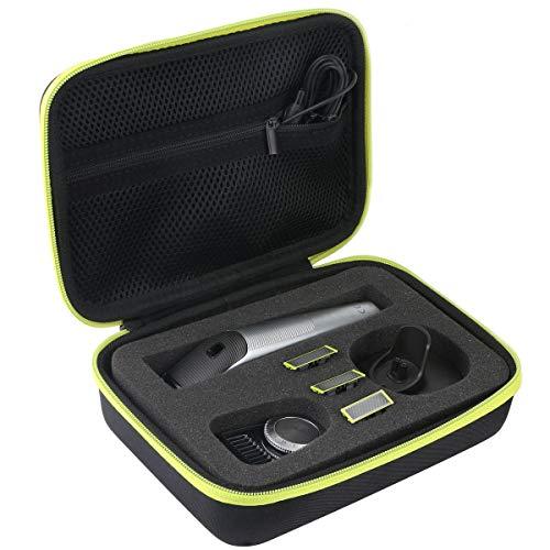 Khanka Hart Tasche Schutzhülle für Philips OneBlade Pro Face+body QP6520/30 QP6620/30 QP6510/20 Bartschneider Trimmer Etui Case.(Gelb Reißverschluss)
