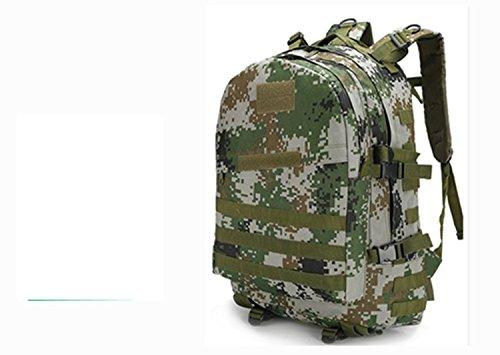 LWJgsa Outdoor - Fan Packt Camouflage - Taktik Rucksack Tour Camping Spezialeinheiten In Der Tasche woodland digital