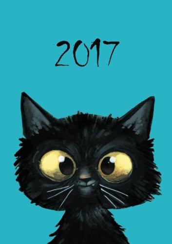 Katzenkalender 2017 - Wochenkalender DIN A5: DIN A5 - freche Katze - 1 Woche pro Doppelseite